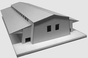 Modell der Markthalle Toggenburg